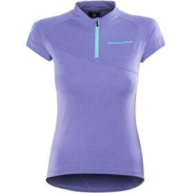Endura SingleTrack Lite Fietsshirt korte mouwen Dames blauw